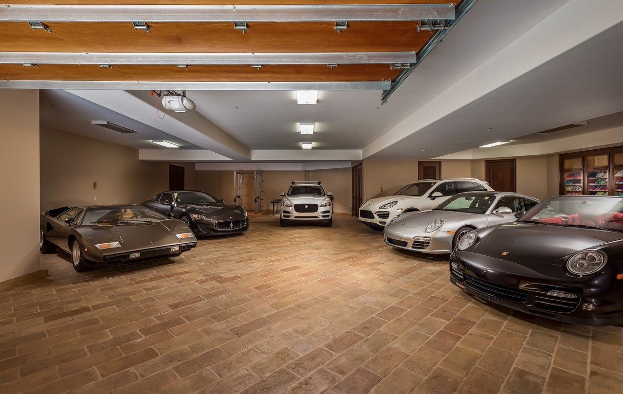 Garage Gym With Car Pro Tennis Player Jelena Janković Lists Custom California Home For