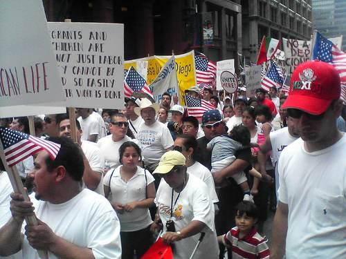 Manifestation à Chicago en 2006