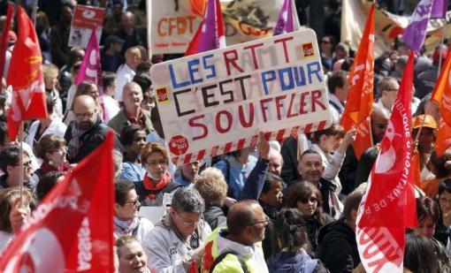 Le 21 mai, devant le ministère de la santé à Paris.