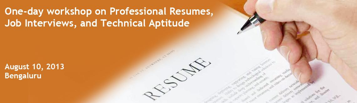 One-day workshop on Professional Resumes, Job Interviews, and