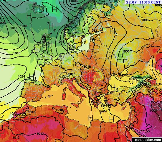 Weather maps - Europe - meteoblue