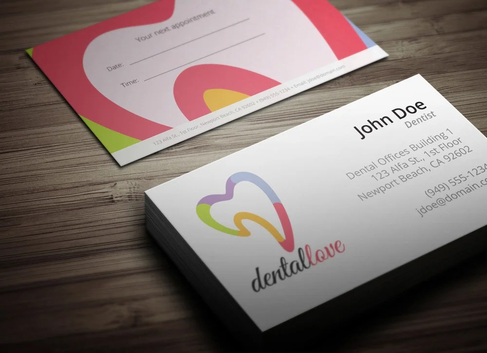 Dentist Business Card Design Download - Ready to Print