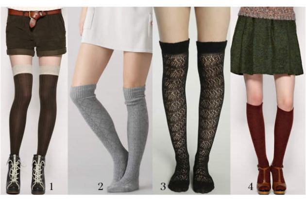 Four kinds of kneel-high socks for four kinds of looks