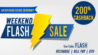 Recharge & Bill Payment win 200% Cashback