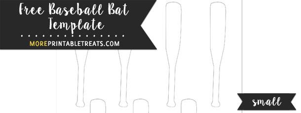 Baseball Bat Template \u2013 Small