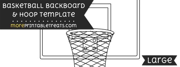 Basketball Backboard And Hoop Template \u2013 Large