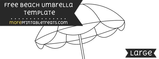 Beach Umbrella Template \u2013 Large