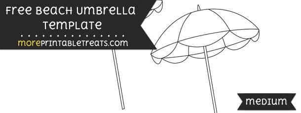 Beach Umbrella Template \u2013 Medium