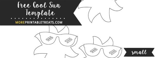 Cool Sun Template \u2013 Small - small sun template