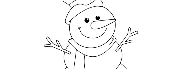 Frosty The Snowman Template \u2013 Large