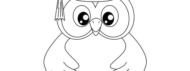 Graduation Owl Template \u2013 Large