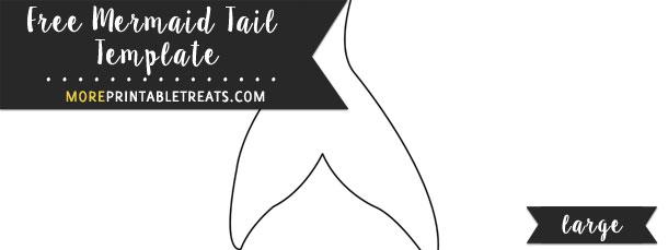 Mermaid Tail Template \u2013 Large