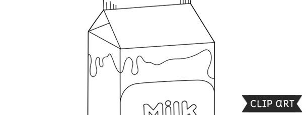 Milk Carton Template \u2013 Clipart - Milk Carton Template