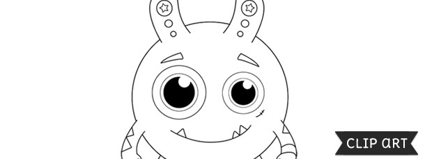 Monster Template \u2013 Clipart - Monster Template