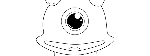 One Eyed Monster Template \u2013 Large - Monster Template