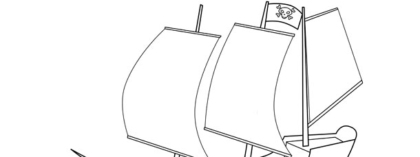 Free Pirate Ship Template - Small Pirate Party Printablesprintable