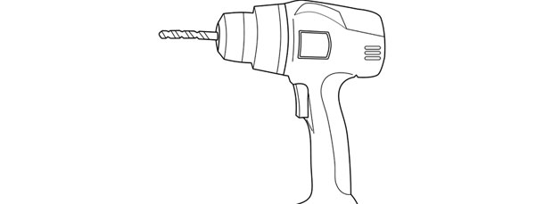 Power Drill Template \u2013 Large - drill template