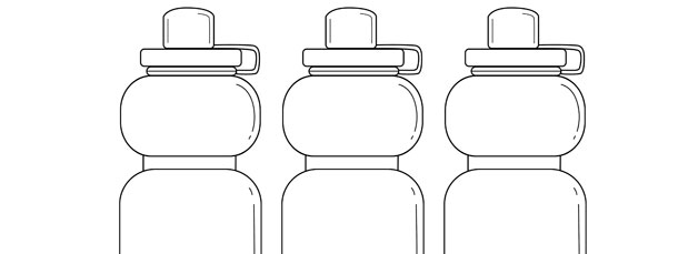 Sports Water Bottle Template \u2013 Medium