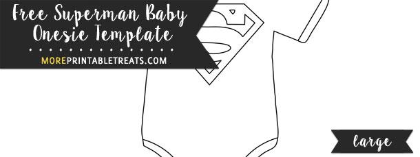 Superman Baby Onesie Template \u2013 Large - onesie template