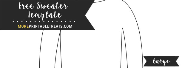 Sweater Template \u2013 Large