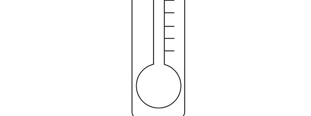 Thermometer Template \u2013 Large - thermometer template