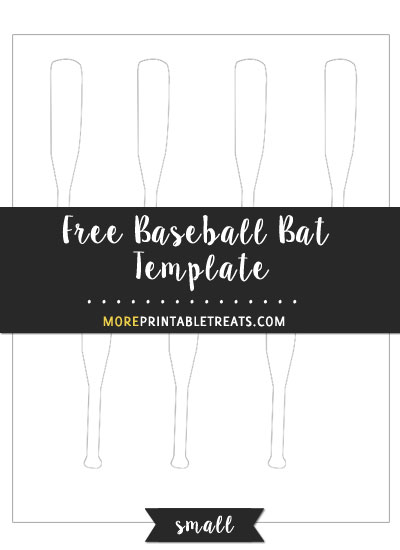 Baseball Bat Template u2013 Small - bat template