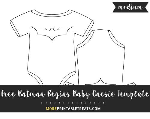 Batman Begins Baby Onesie Template \u2013 Medium