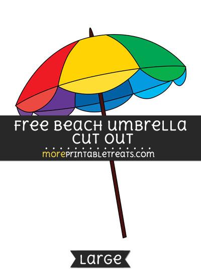 Free Coloring Pages Beach Umbrella u2013 Coloring Print Simple