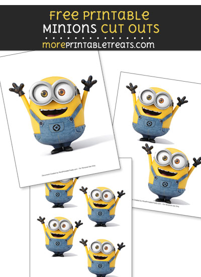 Bob from Minions Cut Outs
