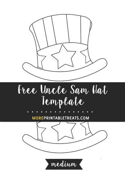 Hand Drawn Uncle Sam Hat Template \u2013 Medium