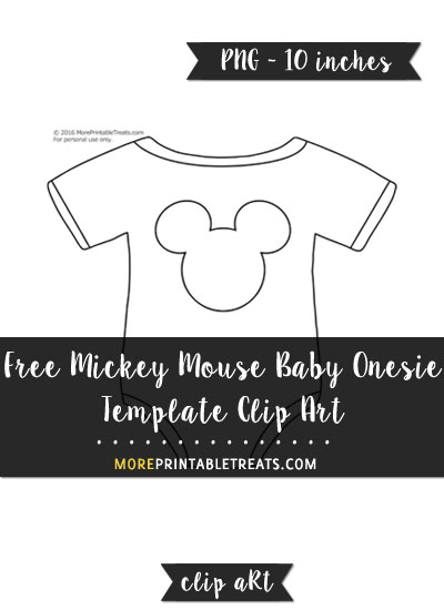 Mickey Mouse Baby Onesie Template \u2013 Clipart