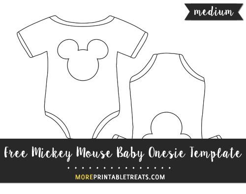 Mickey Mouse Baby Onesie Template \u2013 Medium - onesie template