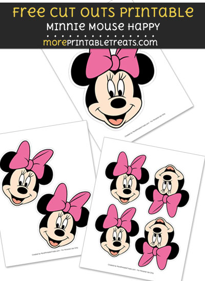 Minnie Mouse Happy Cut Outs