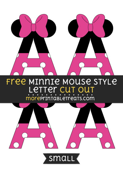 Minnie Mouse Letter Cutouts Printable wwwpicswe