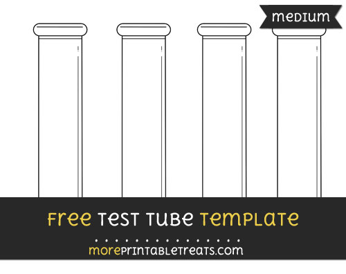 Test Tube Template \u2013 Medium