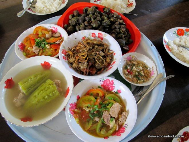 Cambodian homestyle food