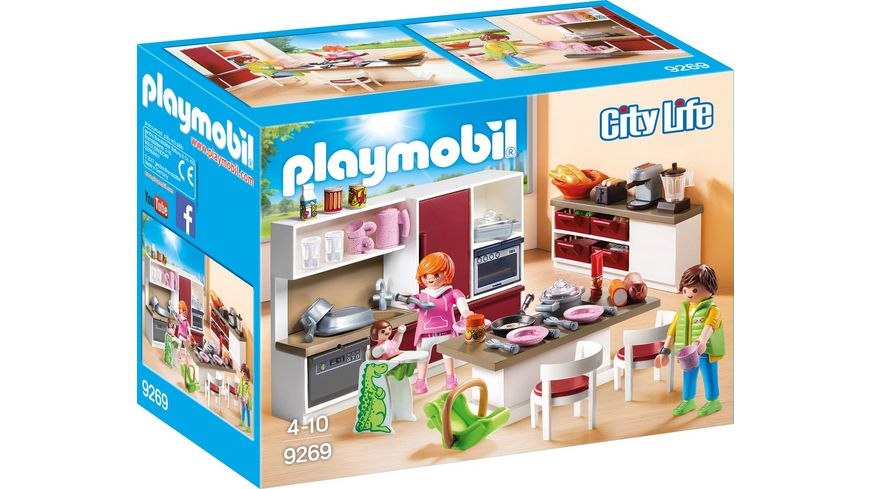 Playmobil City Life Küche Müller Playmobil 9269 - City Life - Große Familienküche Online