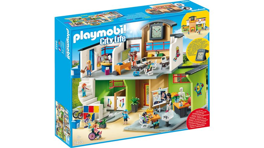 Playmobil City Life Küche Müller Playmobil 9453 - City Life - Große Schule Mit Einrichtung