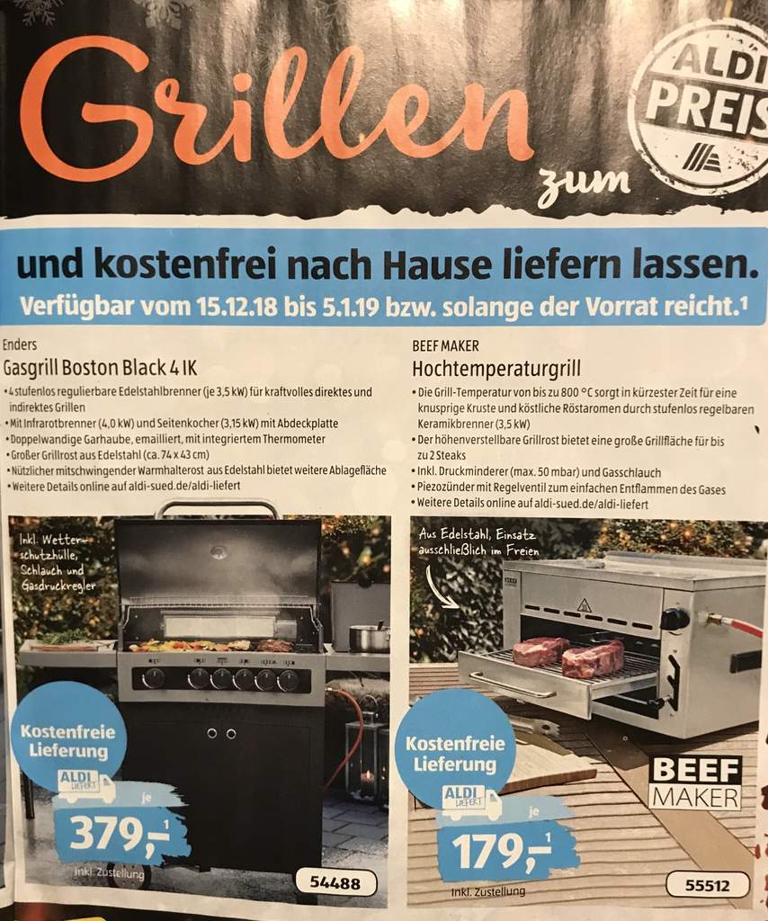 Beef Maker Hochtemperatur Grill Kaufen Lokal Aldi Süd The Return Of The Beefmaker Versand