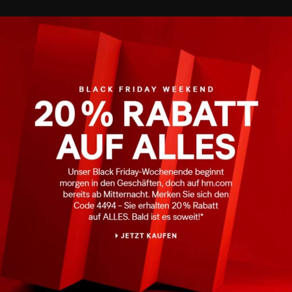 Black Friday Wochenende H M Black Friday 2019 Angebote Deals Mydealz De