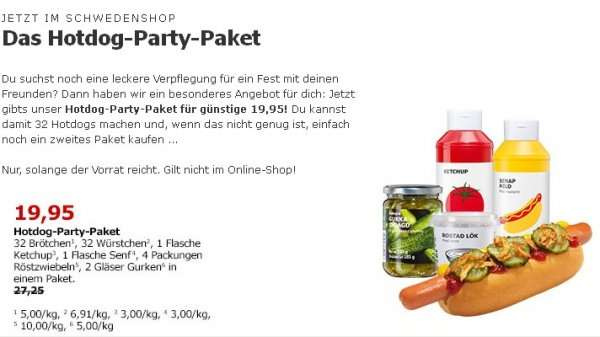 Ikea Hot Dog Party Ikea (bundesweit): Hotdog-party-paket - Mydealz.de