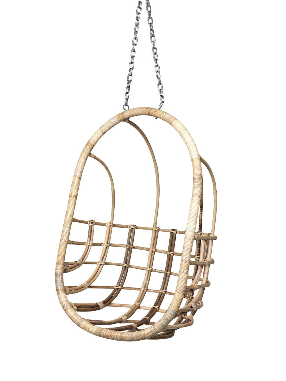The Egg Chair Rattan Hanging Chair | Hanging Rattan Chair | Indoor