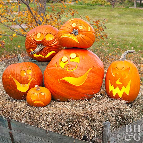 Printable Pumpkin Stencils Better Homes  Gardens
