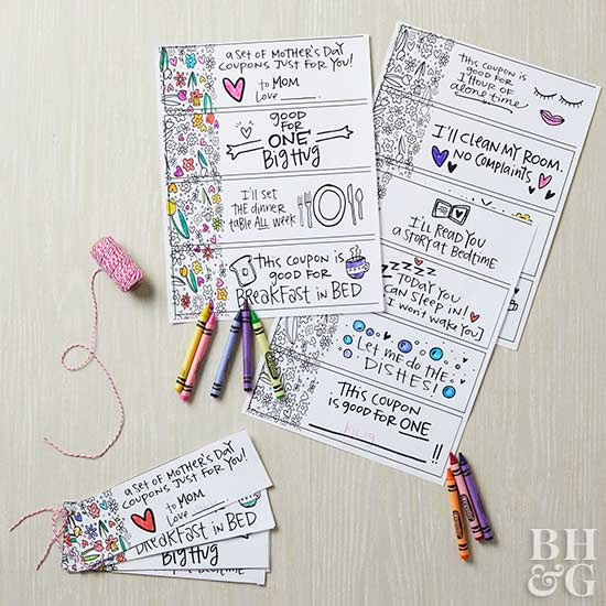 Adorable Mother\u0027s Day Coupon Printables