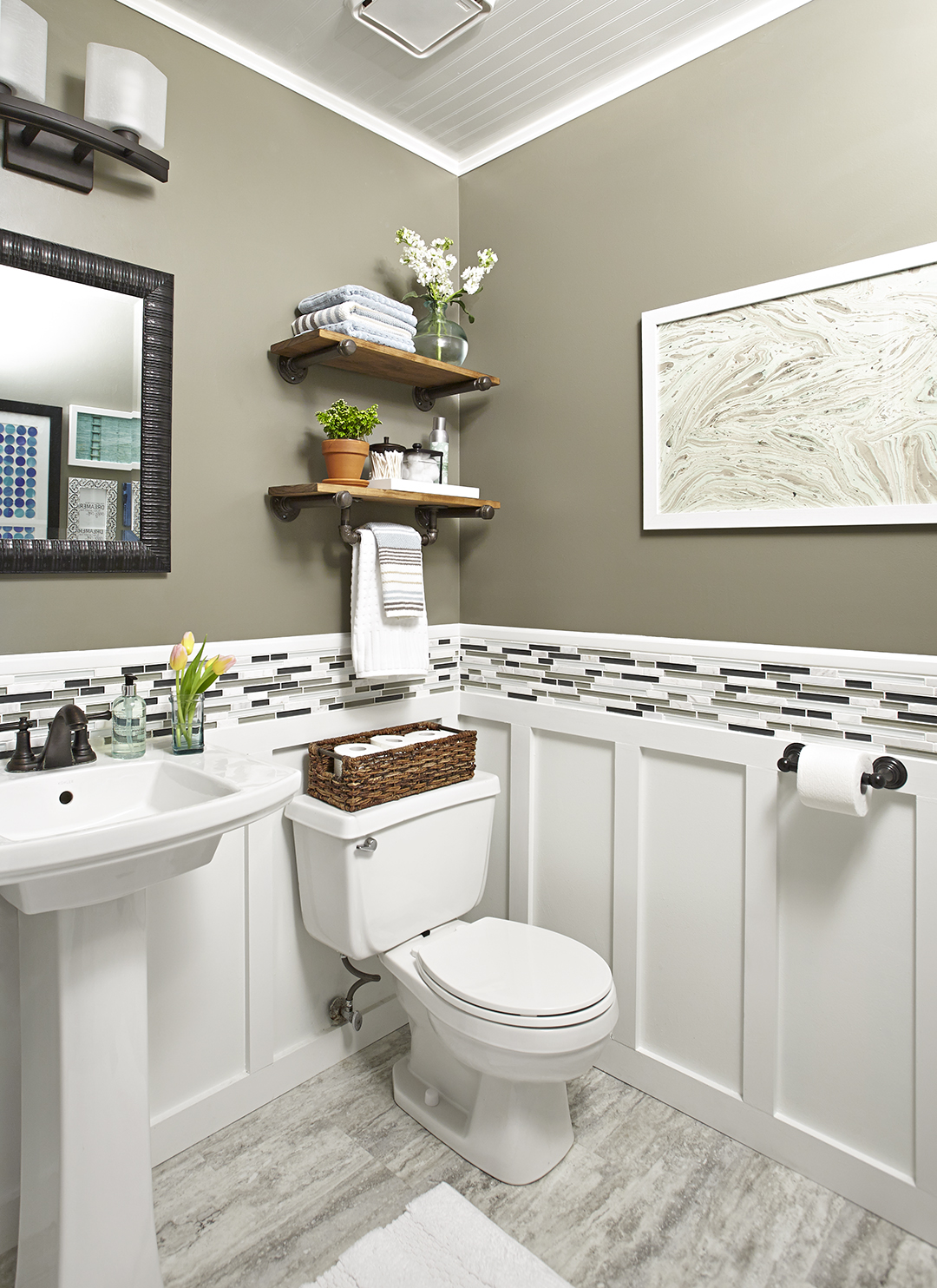 Small Bathroom Makeover Weekend Bathroom Makeovers Better Homes Gardens