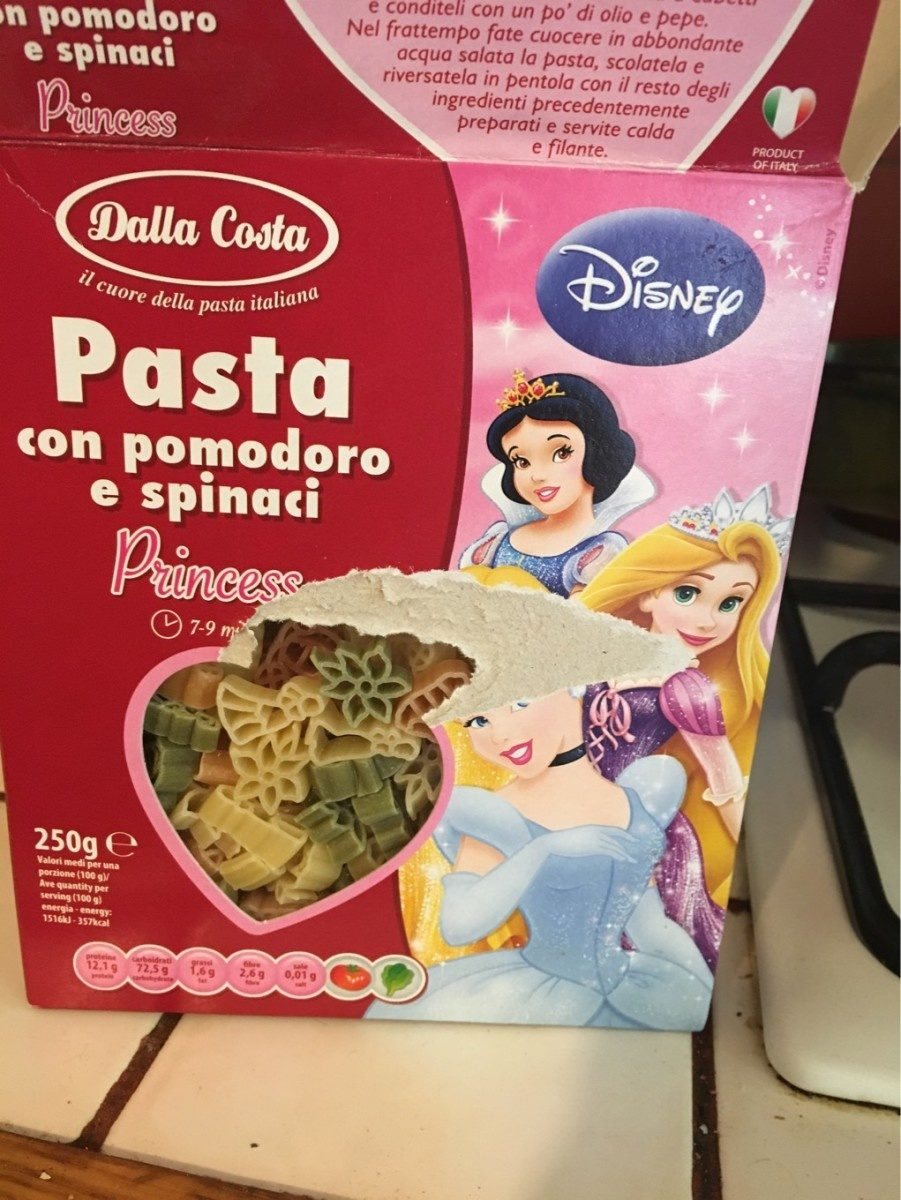 Pentola Jamaica Disney Princess Shaped Pasta 250g Macaroni