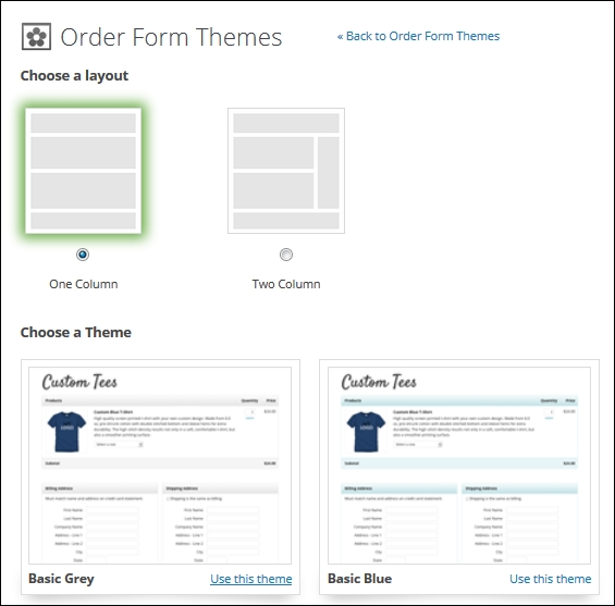 Building order forms - Infusionsoft Cookbook
