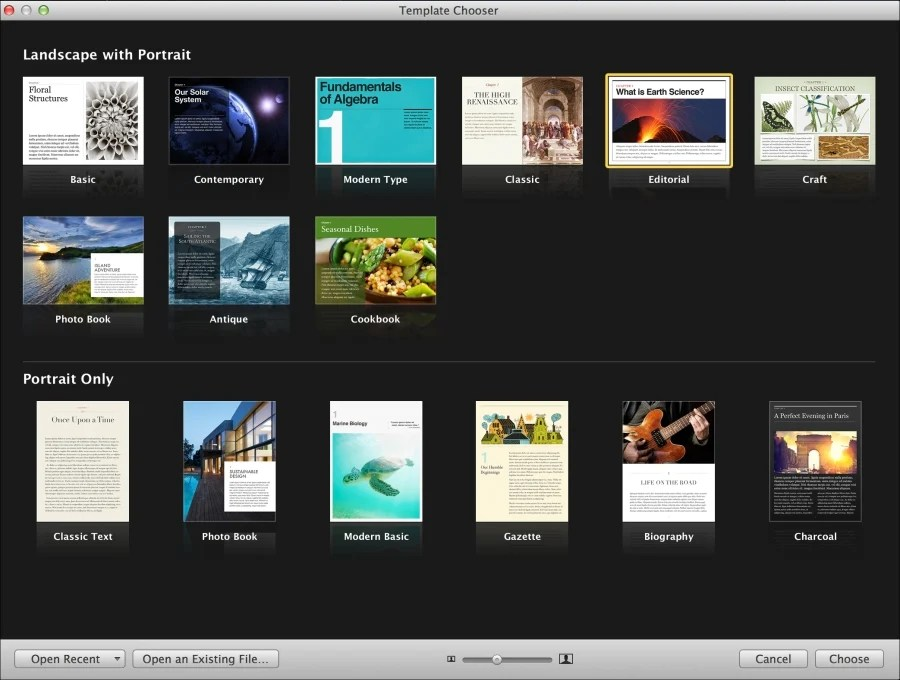 Exploring iBooks Author templates (Should know) - Instant Apple