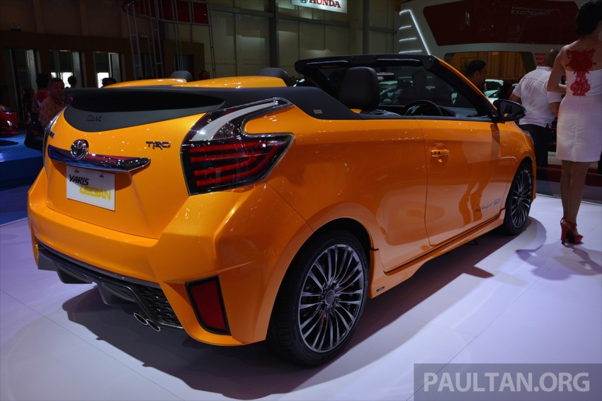 Four Cars Wallpapers Toyota Yaris Convertible At The 2015 Indonesia Auto Show