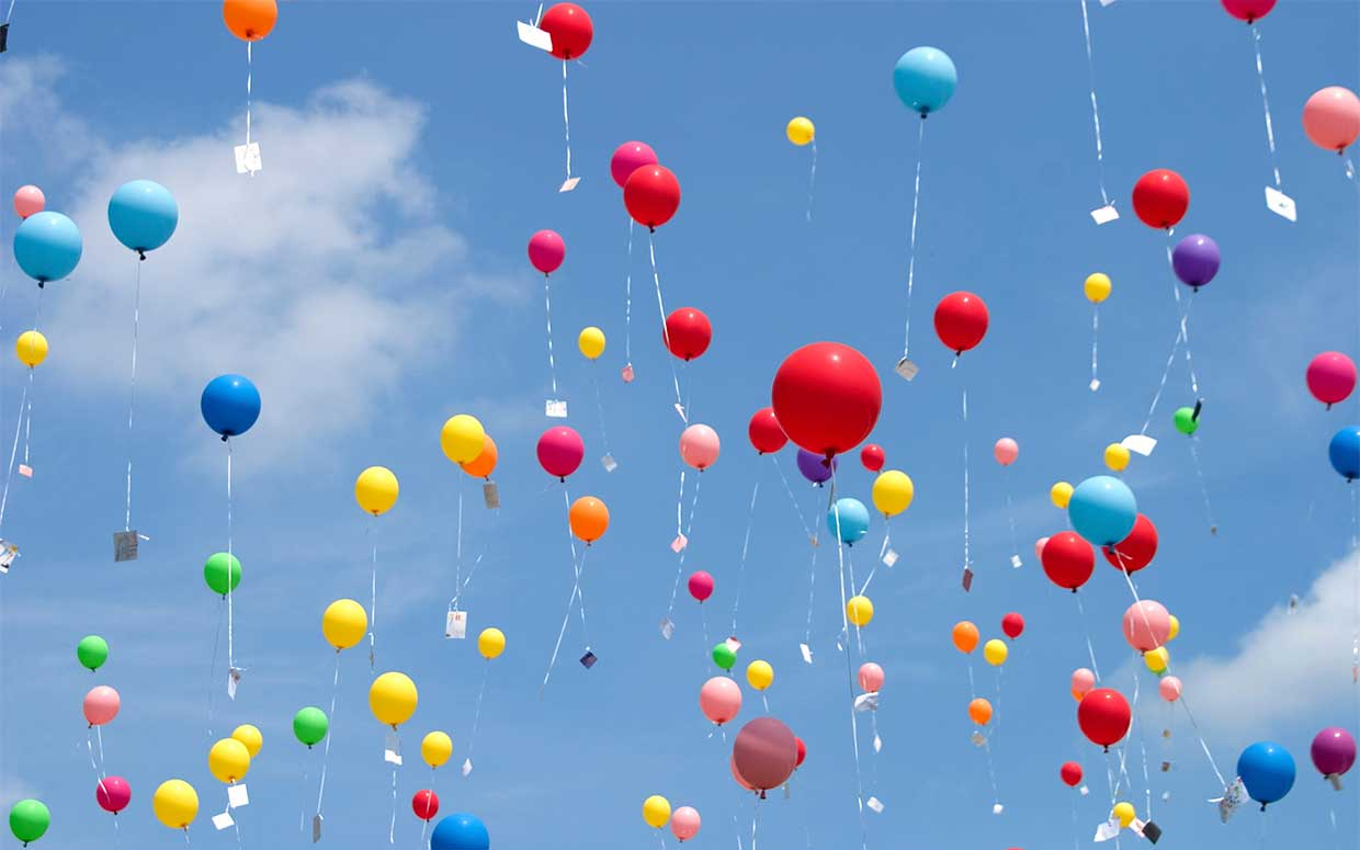 Ballons Littering With Balloons